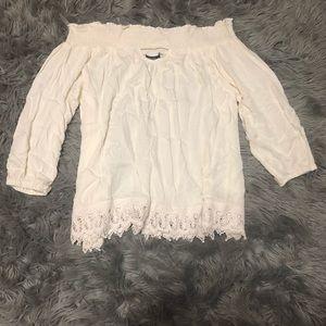 CLEARANCE Rue 21 Crochet Off Shoulder Top